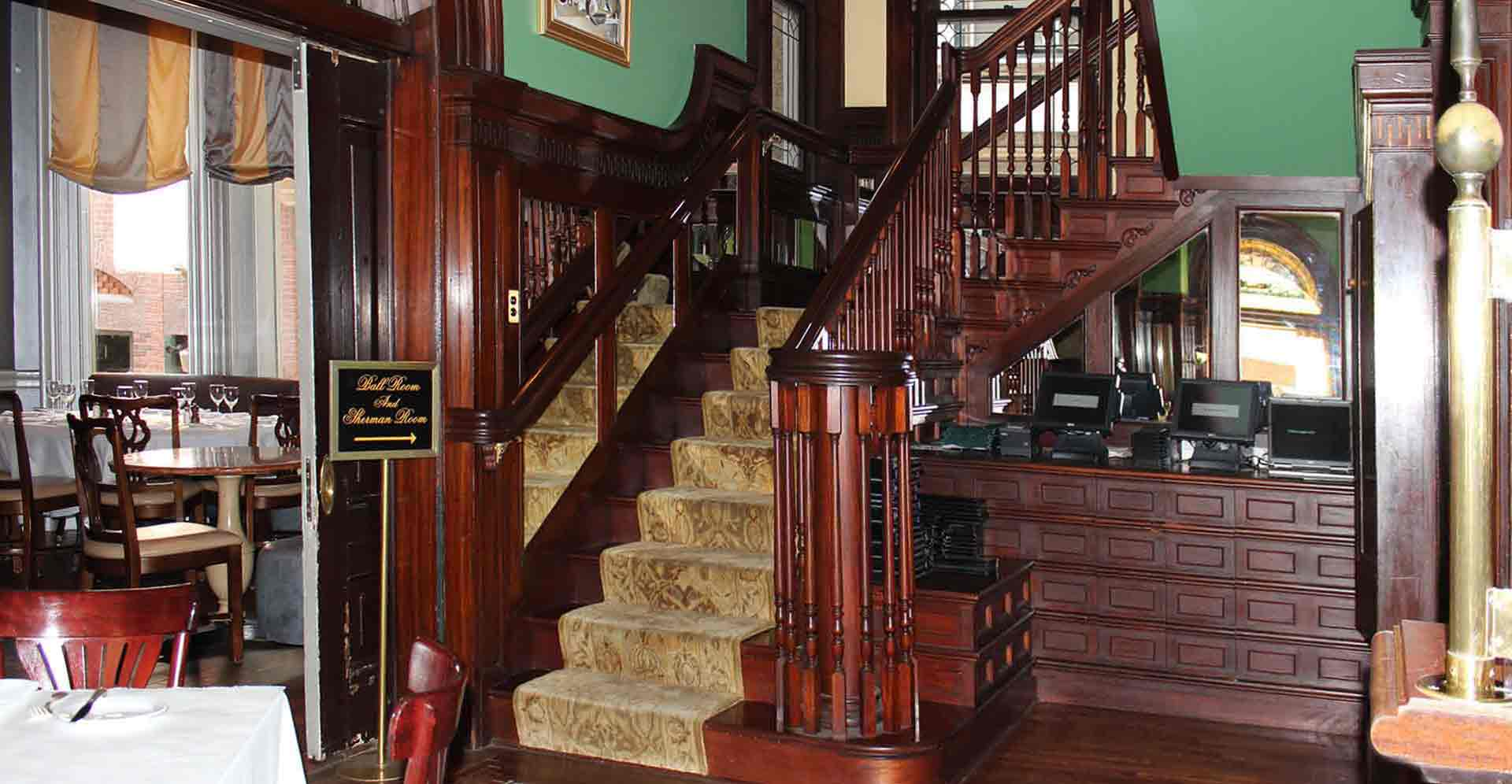 UNION LEAGUE CAFE NEW-SECOND FLOOR STAIRCASE