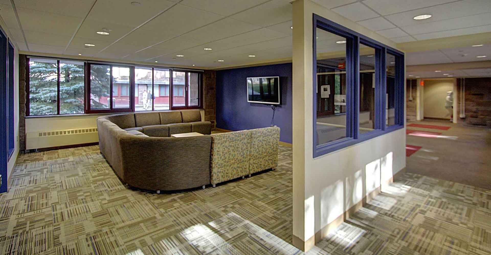 Wesleyan-Butterfield-Dorm Student Lounge