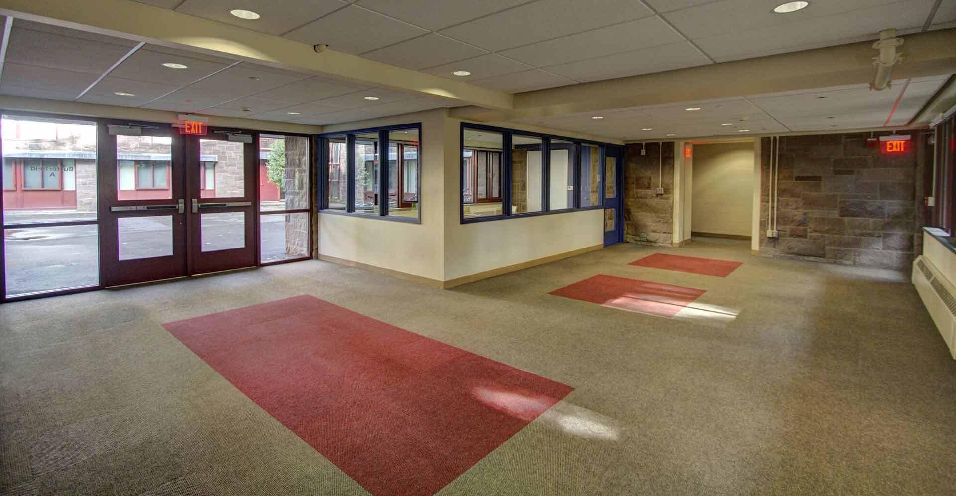 Wesleyan-Butterfield-Dorm lobby
