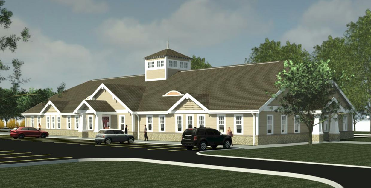 East Lyme CT dental medical office building arts and crafts style