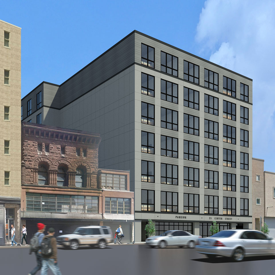 Center-Street-New Haven mixed use building