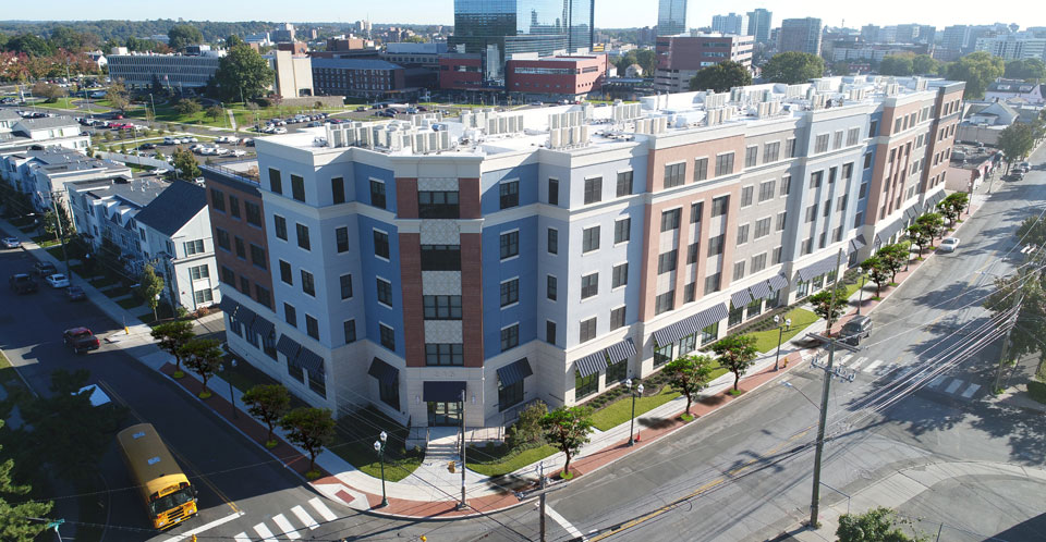 Park 215 Stamford CT Mixed Use Building Multi-family housing