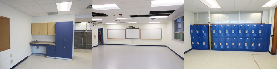 Holland-Hill-construction-lockers-whiteboard-smartboard-millwork