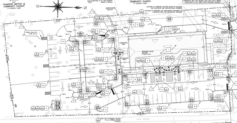 East Lyme civil engineered site plan