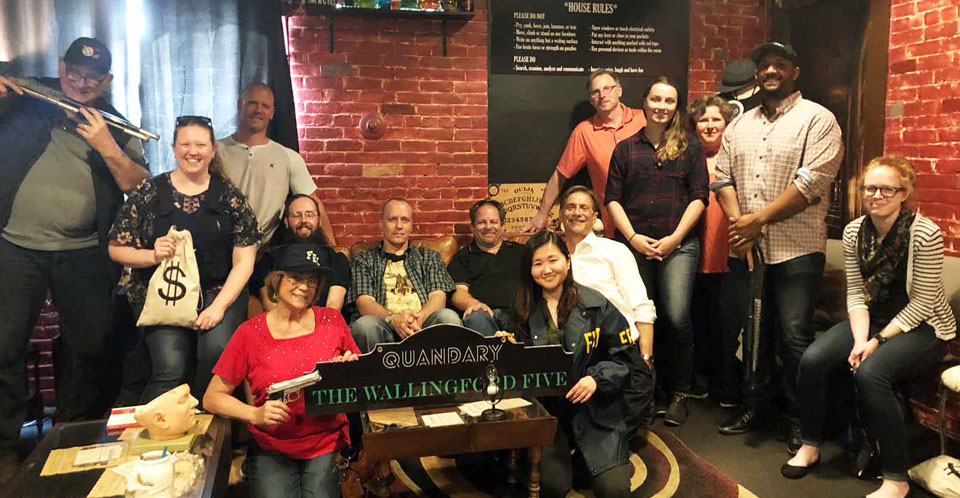 Quandary Escape Room team building Wallingford