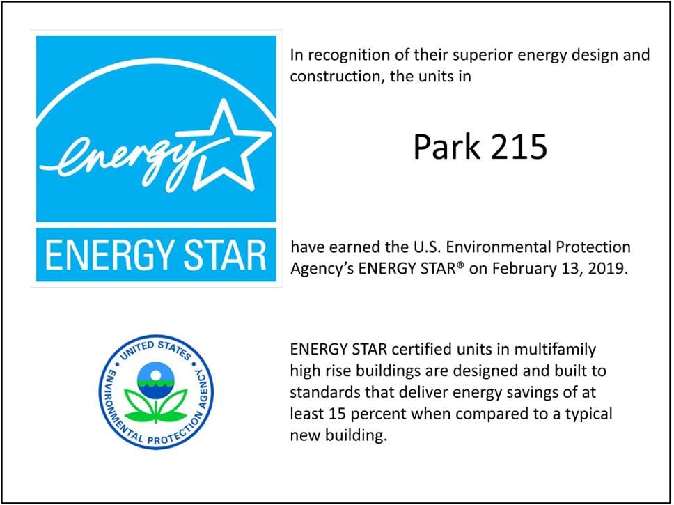 Park 215 ENERGY STAR Certificate