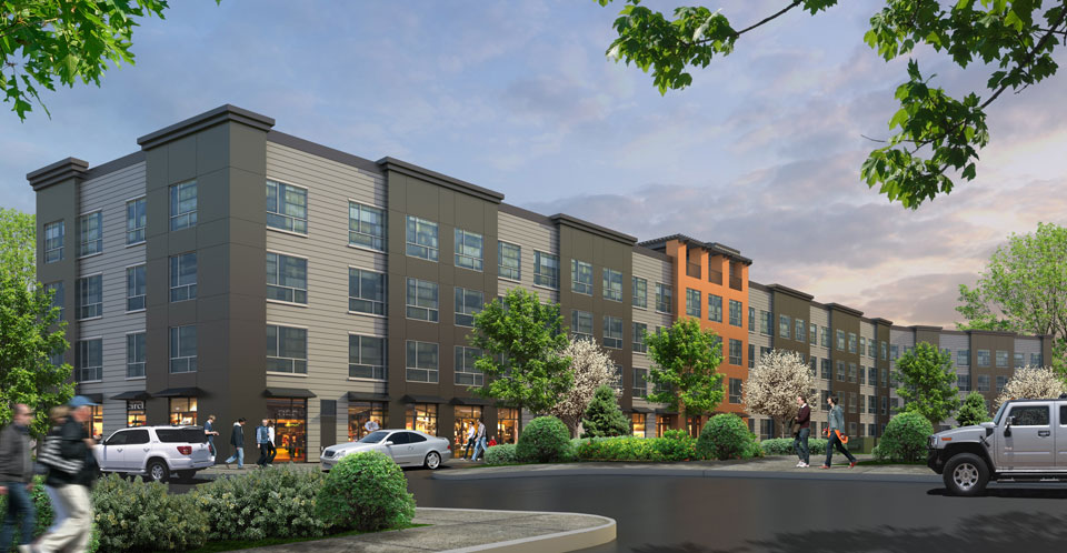The Mark City Crossing rear rendering