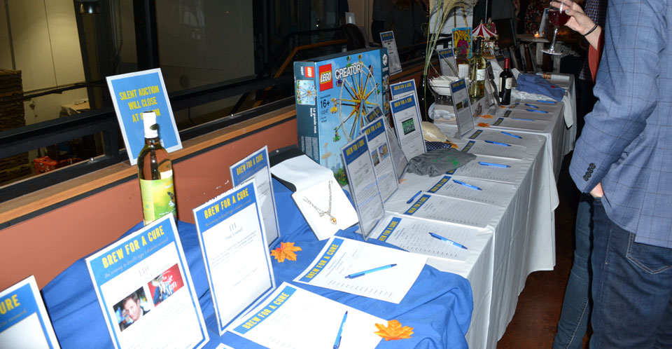 JDRF Brew for a Cure 2018 silent auction