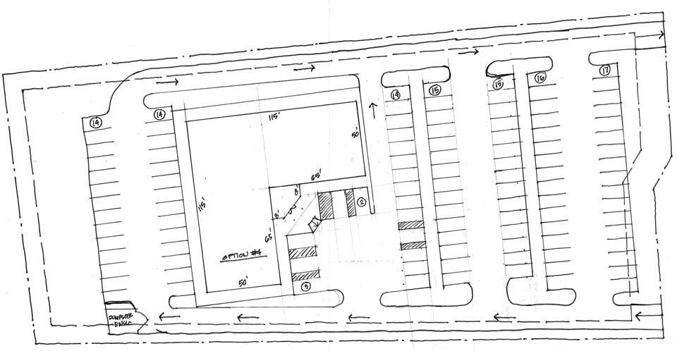 site plan hand sketch