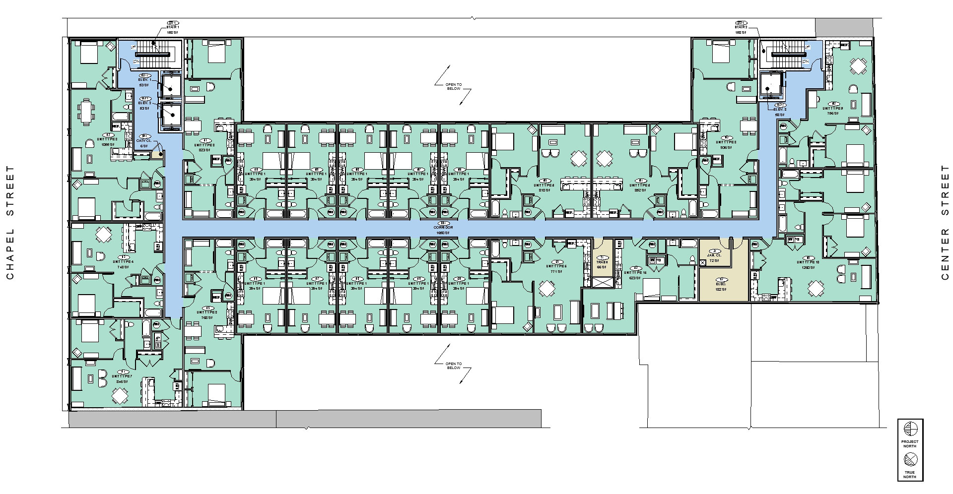 848 Chapel Street typical floor plan multi-family housing New Haven rental apartments